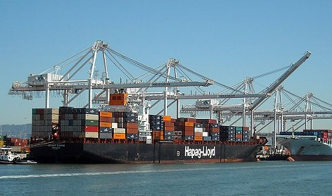 The Port of Oakland was busy last month, receiving a record 80,000 shipping containers.