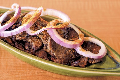 Start your meal at Golden Safari with beef suya