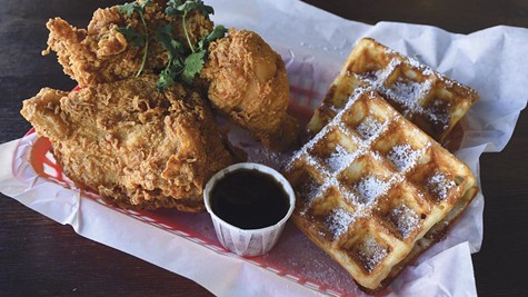 The chicken and waffles are among the Bay Area's best.
