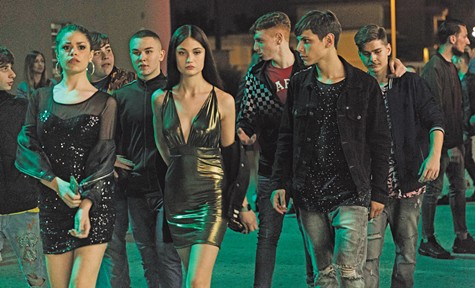 Francesco Di Napoli (front right) and friends on the town in Piranhas.