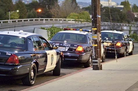 Oakland is generally thought to be short of police officers.