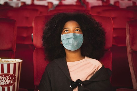 SOCIAL-DISTANCE CINEMA: When movie theaters do reopen this summer, face coverings will be mandatory, even in the auditorium.