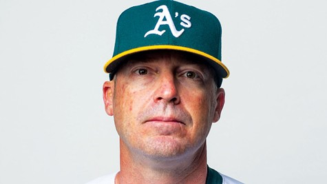 YOU'RE OUT: A's bench coach Ryan Christenson