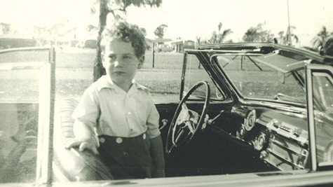 KIDDING: The young Barry Gifford.