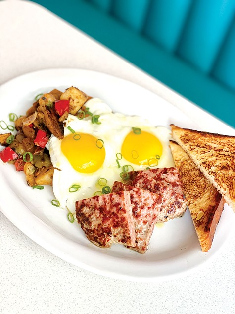 FIXED UP: Daughter's Diner chef and owner Keven Wilson gives a gourmet touch to diner staples.