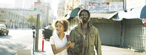 FATHER'S DAY: Tayler Buck (left) and Edi Gathegi in 'Princess of the Row.'