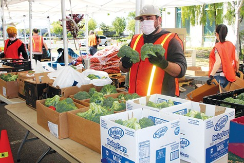HIGH DEMAND: The Alameda County Community Food Bank now distributes more than 1 million pounds of food each week.