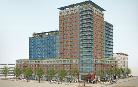 A rendering of the new development at 2211 Harold Way.