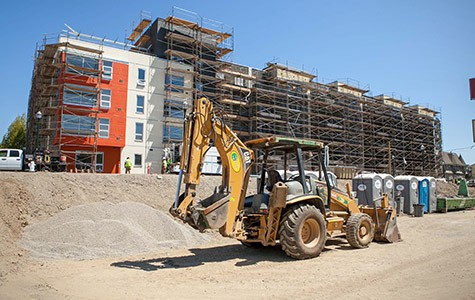 Bridge Housing's ninety-unit project near the MacArthur BART station in North Oakland was one of the only affordable housing projects constructed in the city this year — resulting in a highly competitive lottery.