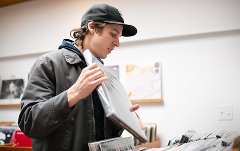 Ethan Jayne often spends his days off digging through record store crates for rare gems.