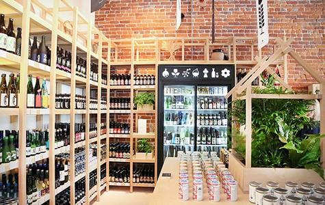 Umami Mart's Japanese beer selection.