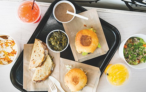 Instead of fries and soda, LocoL serves agua.