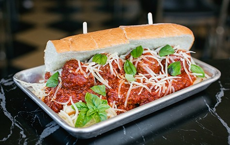 The meatball sub is a bargain at $8. Andria Lo