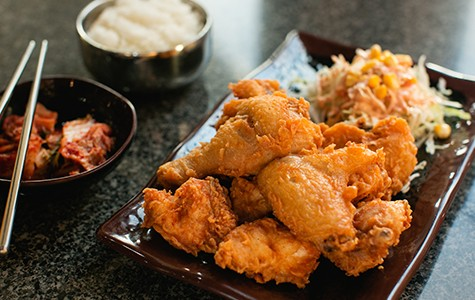 "The ""original""-style fried chicken featured an impeccably crunchy batter."