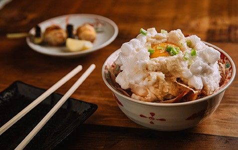 The tamakake gohan was an inspired take on the traditional egg-over-rice bowl.