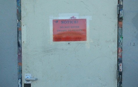 "An ""unsafe to occupy' notice on Burnt Ramen's front door this past Friday."