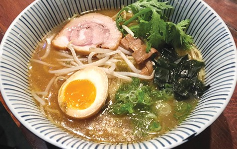 The ramen is available during dinner hours Mon.–Thu.
