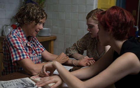 Annette Bening, Elle Fanning, and Greta Gerwig compare notes in 20th Century Women.