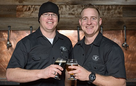 Sean Wells (L) and John Schuman of Gilman Brewing.