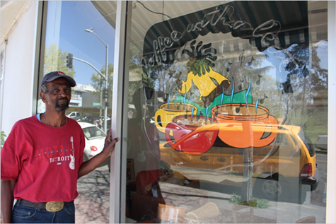 Nate Smith's Adams Point coffee shop is being evicted.