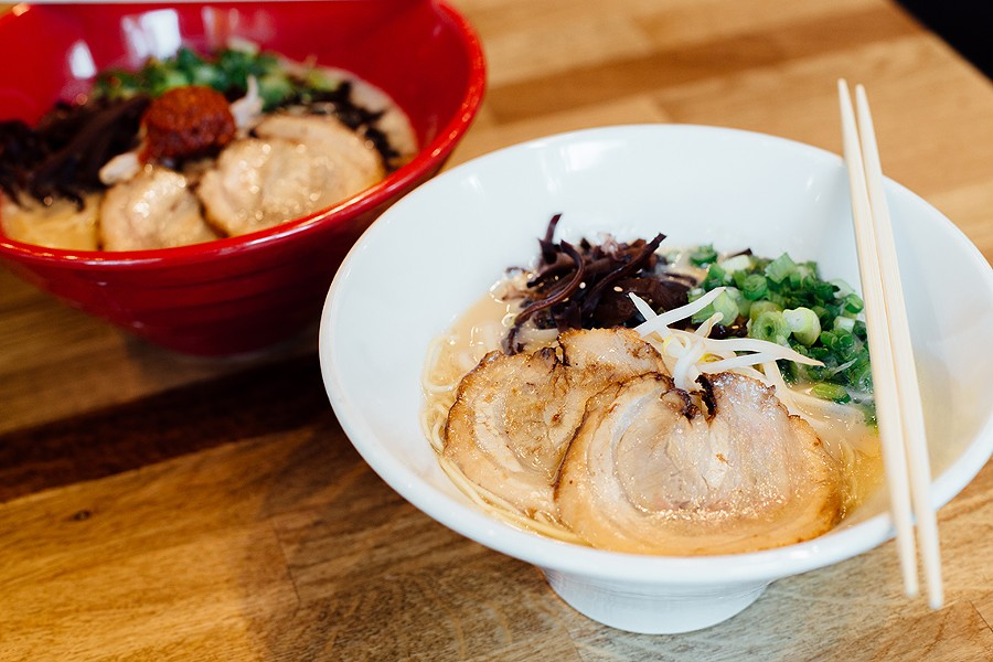 The specialty is tonkotsu ramen topped with pork belly chashu. - PHOTO BY MELATI CITRAWEIREJA
