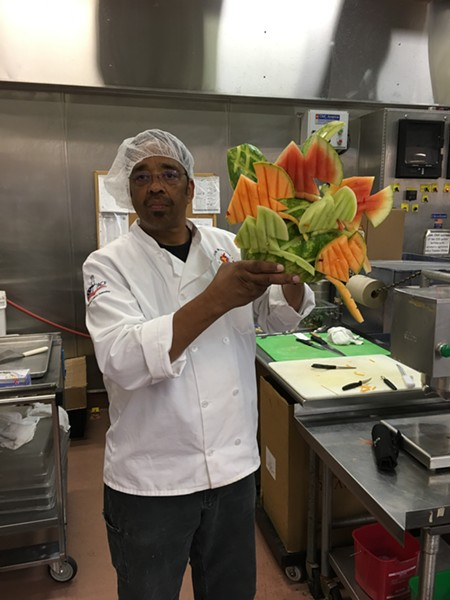 Rauch Grant seriously knows how to slice fruit. - PHOTO COURTESY OF FOOD HANDLERS CAFE