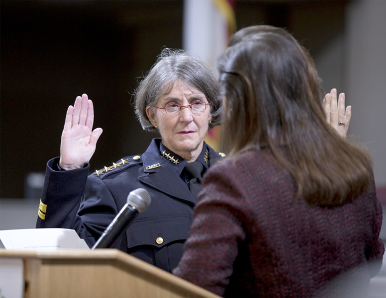 OPD Chief Anne Kirkpatrick has defended her decision to assign cops to provide traffic control for an HSI/ICE raid. - FILE PHOTO BY D. ROSS CAMERON