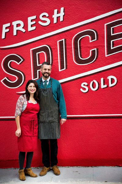 Erica Perez and John Beaver outside their new shop. - PHOTO COURTESY OF ERIN SCOTT