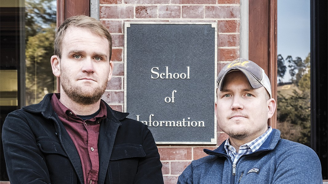 Peter Rowland (left) and Steve Trush spent months examining CRIMS. - PHOTO BY DARRYL BARNES