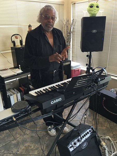 Tim Jones at home in Oakland with his Casio. - PHOTO COURTESY OF COURTESY COMPANION RECORDS