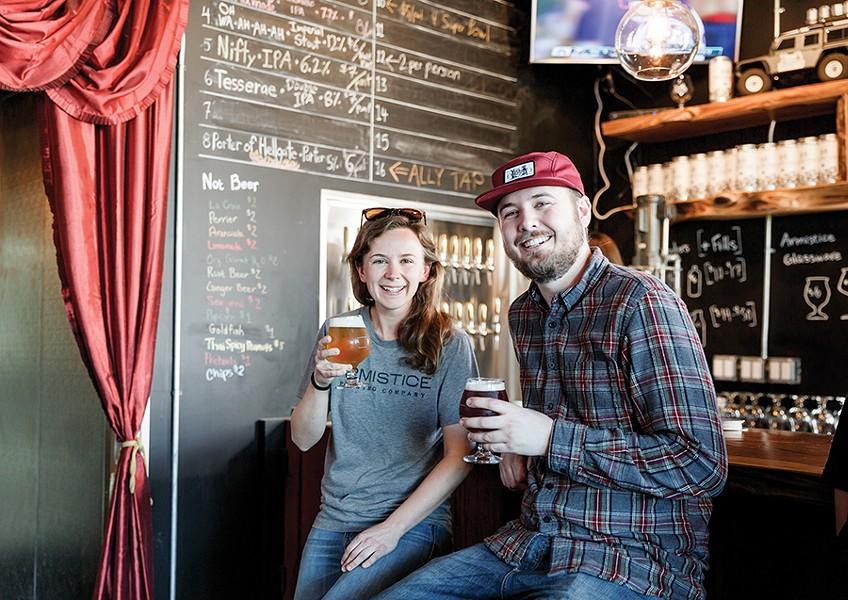 Alex and Gregory Zobel of Armistice Brewing Company. - PHOTO BY KALA MINKO