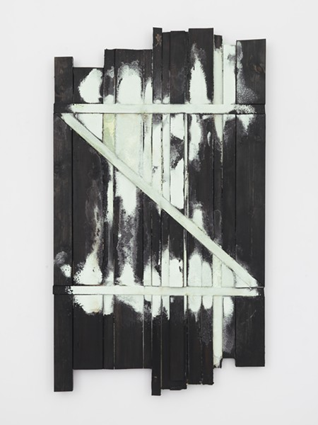 """A painting in Heikes' Z series includes a backwards """"z,"""" which alludes to the end of language and the passage of time. - COURTESY OF BAMPFA"""