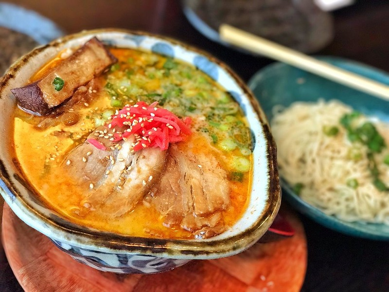 Hakata-style ramen with braised pork at Marufuku in San Francisco. - PHOTO COURTESY OF JON S. VIA YELP