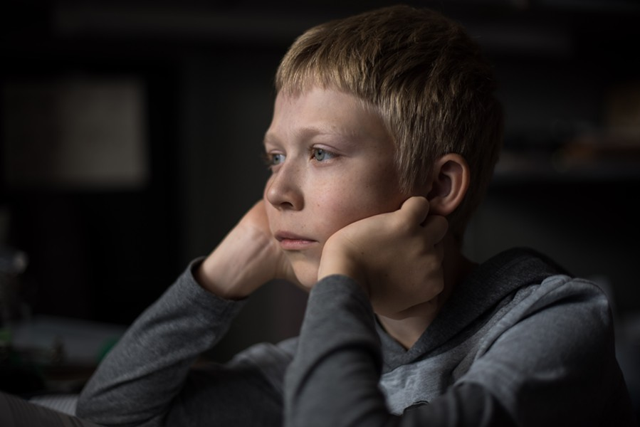 Matvey Novikov ponders his uncertain future in Loveless.