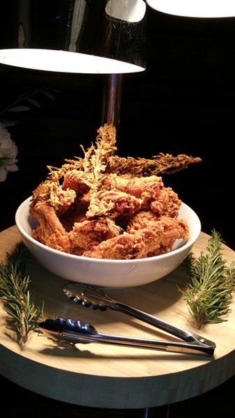 Rosemary fried chicken. - PHOTO COURTESY OF FERNAY MCPHERSON