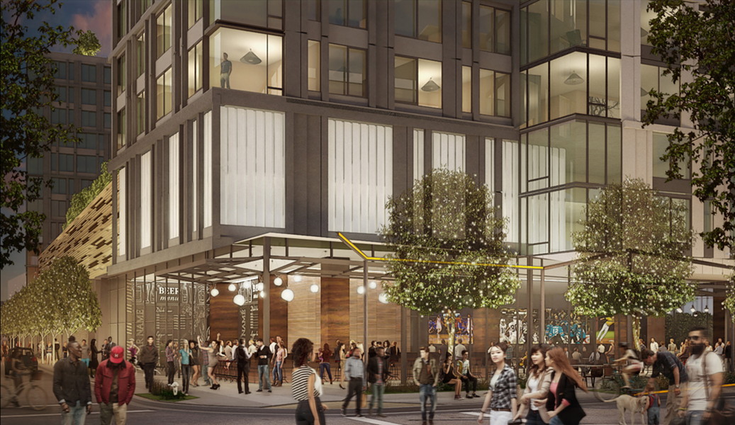 SB 827 would have made it easier to build housing projects such as the one near MacArthur BART, which will begin construction next month. - BOSTON PROPERTIES