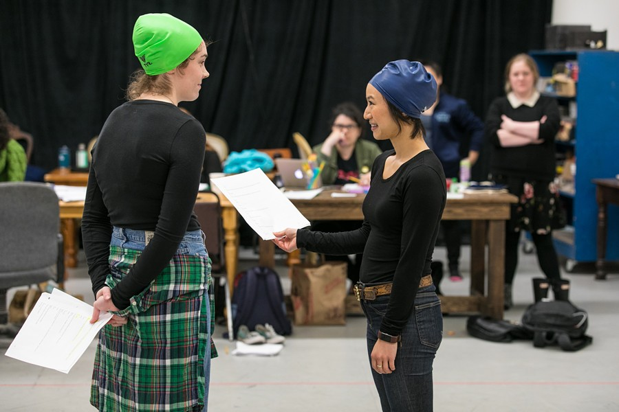 Female relationships, such as the one between Martha Brigham (left) as Amy and Grace Ng as Ester, star in Dry Land. - PHOTO COURTESY OF CHESHIRE ISAACS