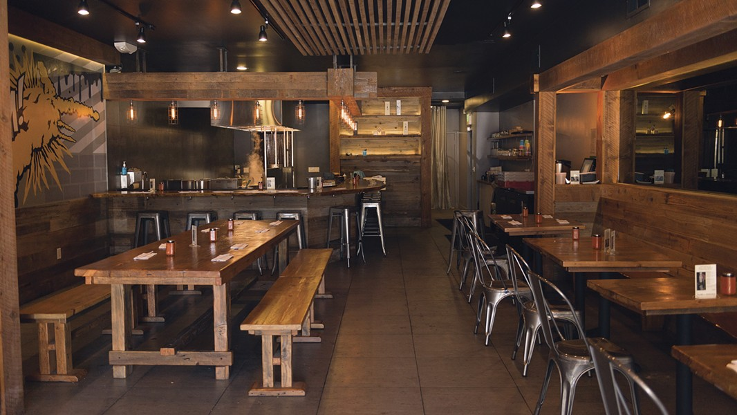 Marufuku looks similar to Hina Yakitori, which previously occupied the space. - PHOTO BY LANCE YAMAMOTO