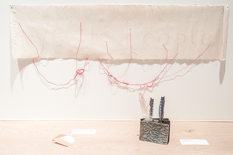 Cecilia Vicuña incorporates found objects into her installations. - PHOTO COURTESY ALEX MARKS