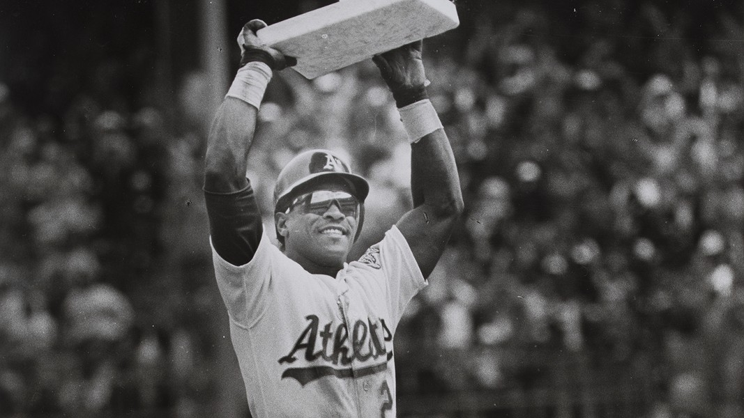 Ricky Henderson remains part of the Athletics organization. - PHOTO COURTESY OF OAKLAND MUSEUM OF CALIFORNIA