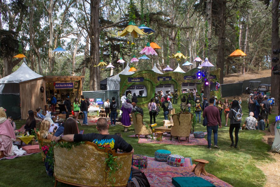 The festival debuted Bubble Tea Party, a new area to kick back and relax. - PHOTO BY ADRIENNE LEE