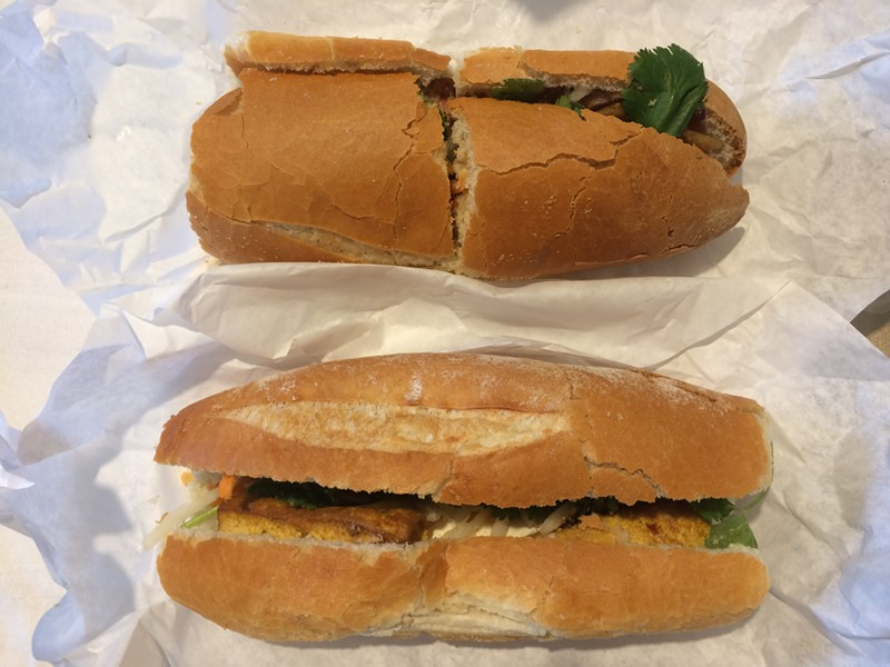 Cam Huong's sandwiches, which are a full meal, range from $3 to $4.50. - PHOTO BY MOMO CHANG