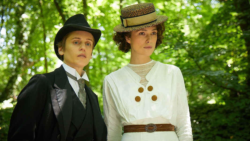 Denise Gough (left) and Keira Knightley in Colette.