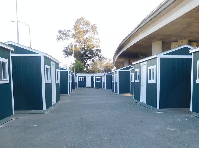 Oakland's Northgate Avenue Tuff Shed camp before it opened.