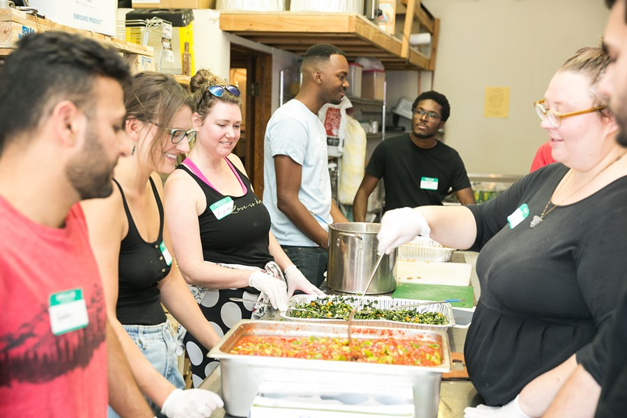 The nonprofit has worked in a variety of locations. - PHOTO COURTESY OF EAST OAKLAND BURRITO ROLL