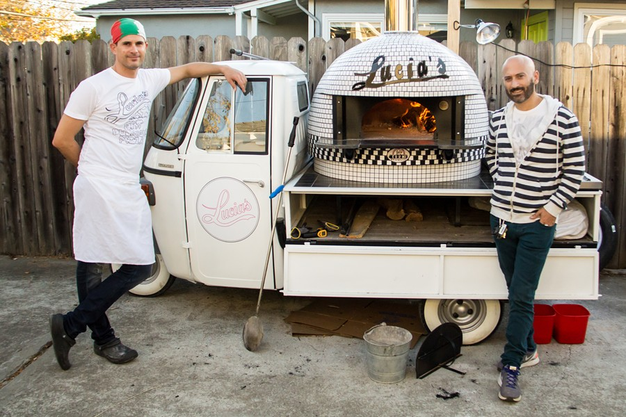 Alessandro Uccelli (left) and Steve Dumain designed the truck. - PHOTO COURTESY OF GEORGE MARACINEANU