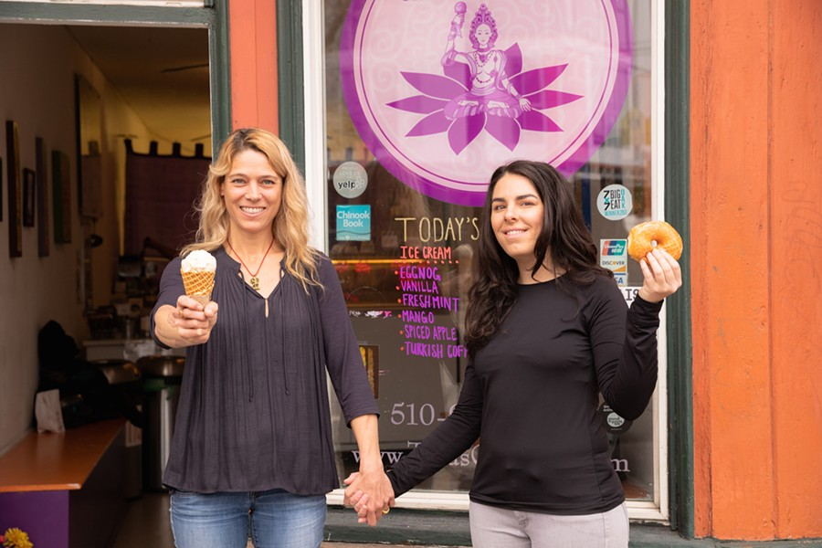 The transition to I Scream Donuts has been a win-win for Tara Esperanza (left) and Katie Wages. - PHOTO BY NICK HEMPHILL