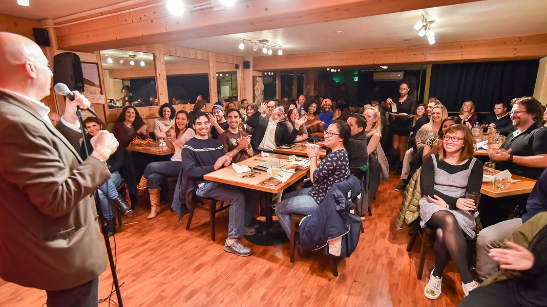 Comedy Oakland takes over the upstairs loft of The Spice Monkey Restaurant & Bar. - PHOTO COURTESY OF COMEDY OAKLAND BY PIXELCHAZER