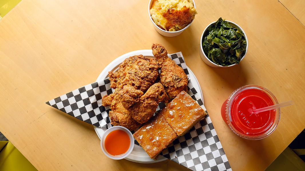 The rosemary fried chicken is exceptionally juicy. - PHOTO BY LANCE YAMAMOTO