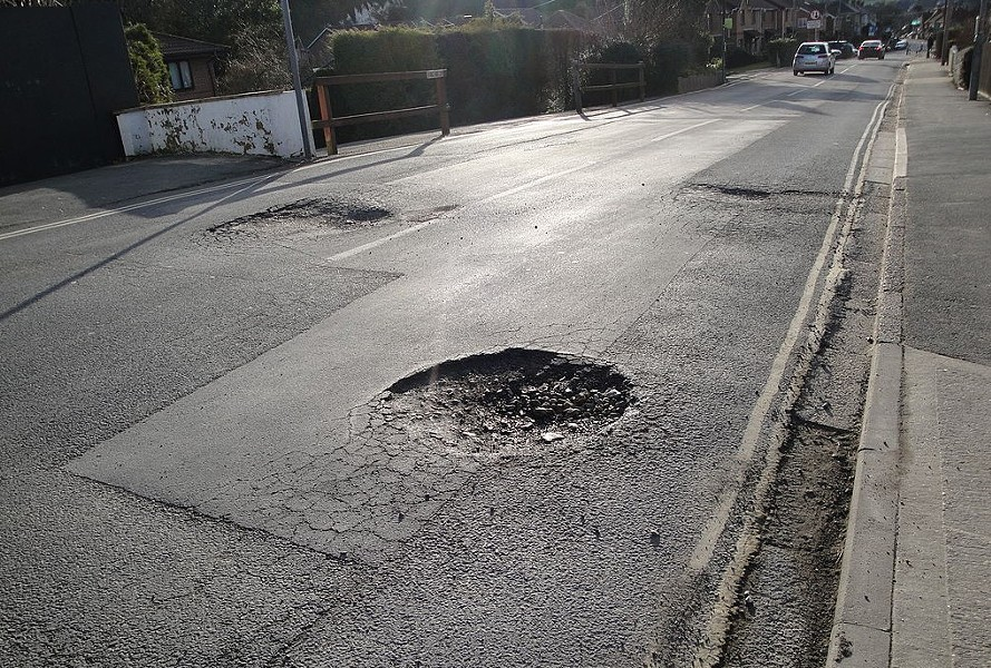 Pothole relief is coming to Oakland. - WIKIMEDIA COMMONS